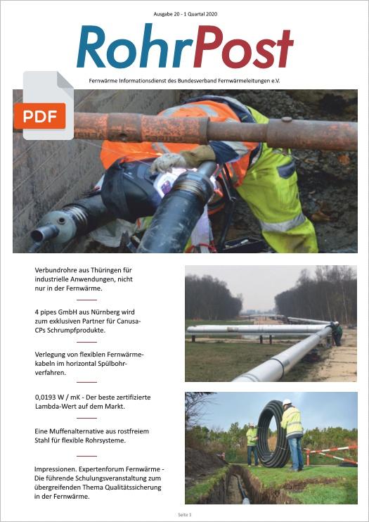 RohrPost - Der Fernwärme Informationsdienst des Bundesverband Fernwärmeleitungen, Ausgabe 20